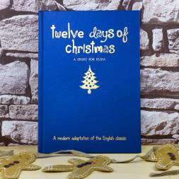 Personalised 12 days of Christmas Hardback Book
