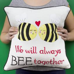 We Will Always Bee Together Cushion