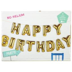 Happy Birthday Balloon Banner