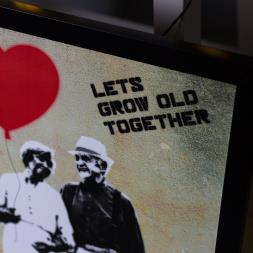 Personalised Let's Grow Old Together Print
