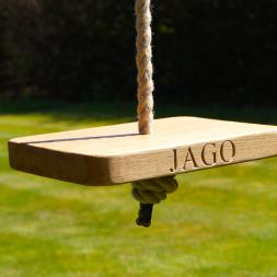 Personalised Wooden Monkey Swing