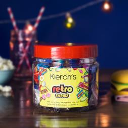 Personalised Retro Taster Jar