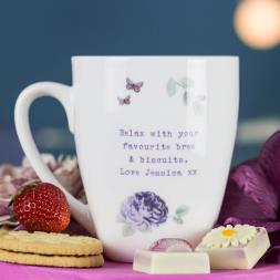 Personalised Secret Garden Latte Mug