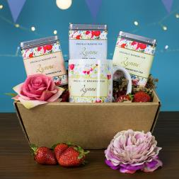 Personalised Tea Gift Set - Floral Design