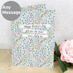 Personalised Botanical Print Card