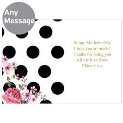 Personalised Floral Dot Card
