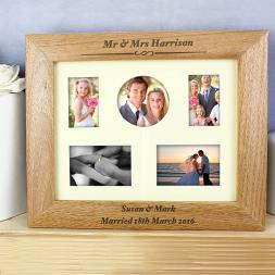 Personalised Any Message Multi Photo Frame