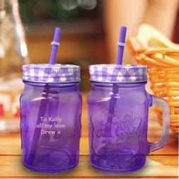 Personalised Mason Jar - Coloured