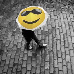 Emoji Cool Umbrella