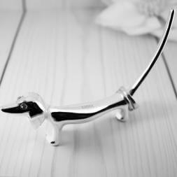 Personalised Silver Plated Dog Ring Holder