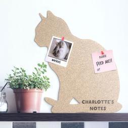 Personalised Cork Cat Pin Board