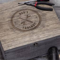 Personalised Vintage Wooden Toolbox