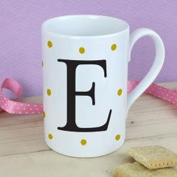 Personalised Gold Spot Mug