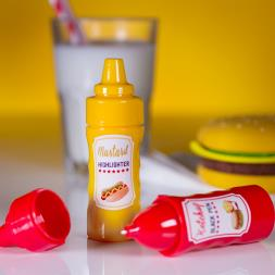 Ketchup Pen And Mustard Highlighter