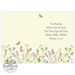 Personalised Wild Flowers Card
