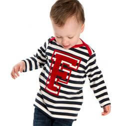 Personalised Long Sleeve Initial Baby Top