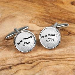 Personalised Cufflinks - Golf Balls