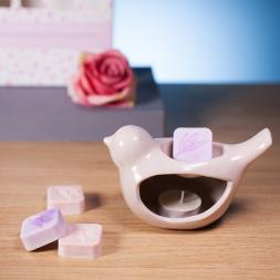 Luxury Ceramic Burner & Soy Wax Melts - Pale Pink