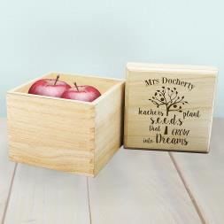 Personalised 'Teachers Plant Seeds' Cube Box