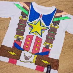 Superhero Colour In T-Shirt