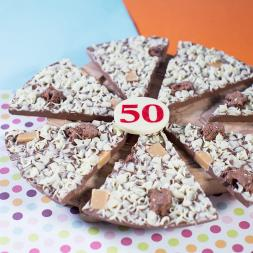 50th Birthday Chocolate Pizza - 10""