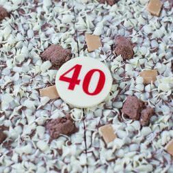 "40th Birthday Chocolate Pizza - 10"""