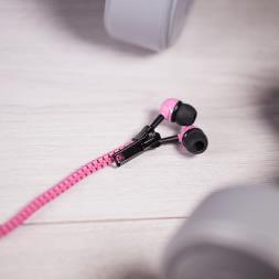 Zip Earphones - Pink