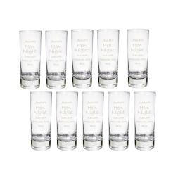 Personalised Shot Glasses - Pack of 10