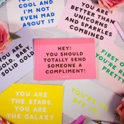 Compliment Postcard Book