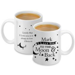Personalised To The Moon & Back Mug