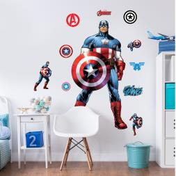 Marvel's Captain America Room Stickers