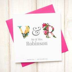 Personalised Floral Wedding Card