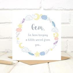 Personalised Baby Announcement Card