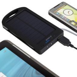 Groov-e Portable Solar Bank Charger 6000mAh