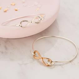 Personalised Open Infinity Bangle