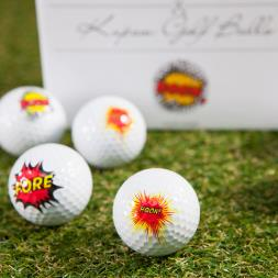 Novelty Golf Balls - Boom