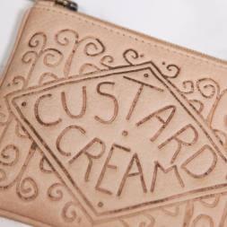 Custard Cream Leather Purse