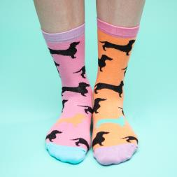 Hot Dogs Ladies Socks