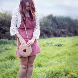 Jammy Biscuit Leather Cross Body Bag