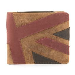 Mustard Union Jack Leather Wallet