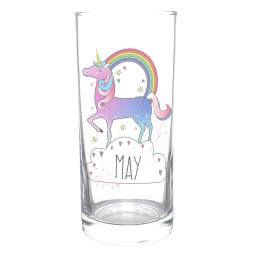 Personalised Unicorn Glass