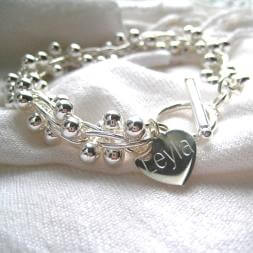 Personalised Chunky Ball Bracelet