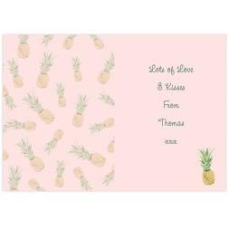 Personalised Pineapple Card
