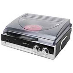 Groov-e Retro Vinyl Record Player With FM Radio And Built-in Speakers - Black