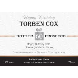 Personalised Birthday Prosecco