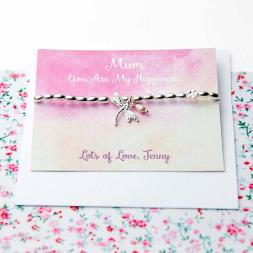 Personalised Dragonfly Friendship Bracelet
