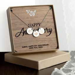 Personalised Happy Anniversary Necklace & Keepsake