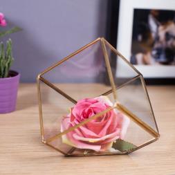 Brass Cube Terrarium