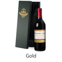 Personalised Bottle of Red Wine in Silk Lined Gift Box