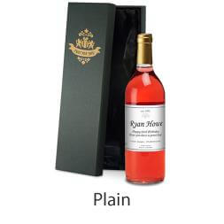 Personalised Bottle of Rose Wine in Silk Lined Gift Box